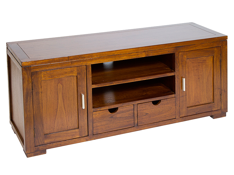 Mueble tv colonial rinca en for Muebles para tv estrechos