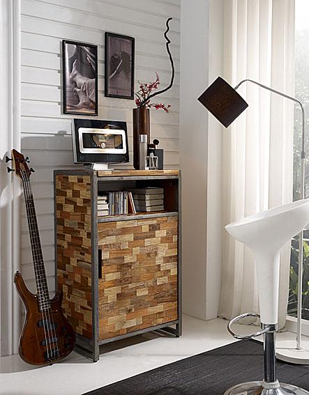 Mueble Auxiliar con Puerta teca reciclada no disponible en ...