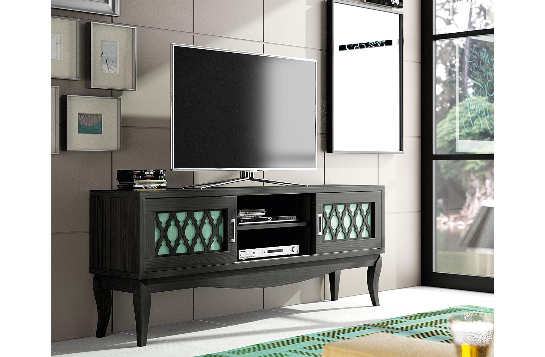 Mueble de tv vintage provenzal basilea de lujo en for Tu muebles catalogo