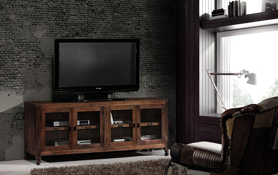 Mueble tv 4 puertas industrial no disponible en for Mueble television industrial