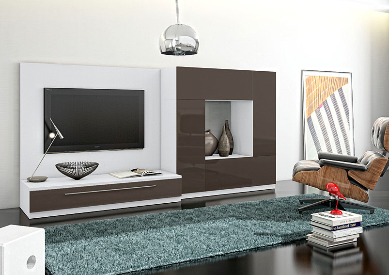 Mueble de tv moderno ponce no disponible en for Muebles modernos living para tv