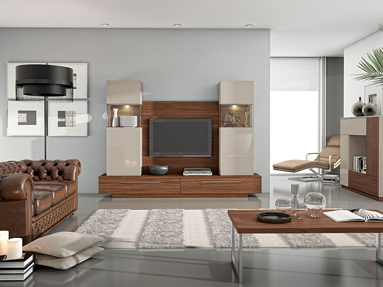 Mueble de tv moderno princeton no disponible en for Muebles modernos living para tv