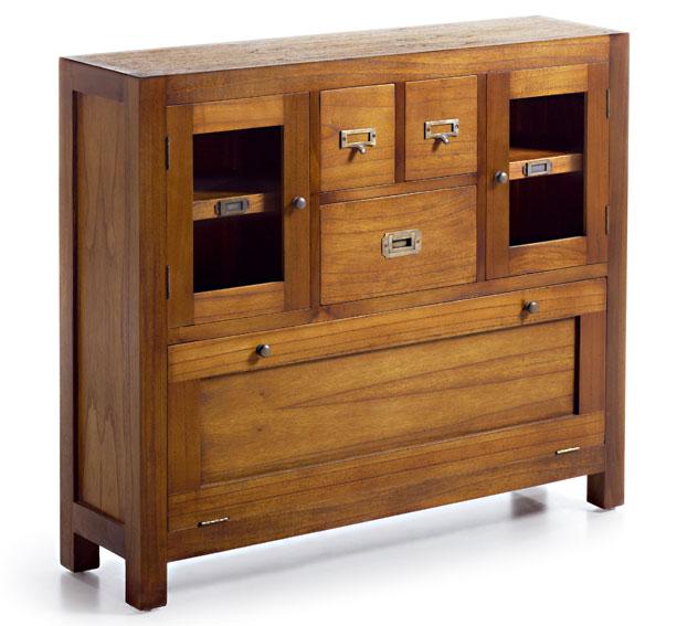 Mueble de entrada con zapatero colonial star en for Entraditas con zapatero