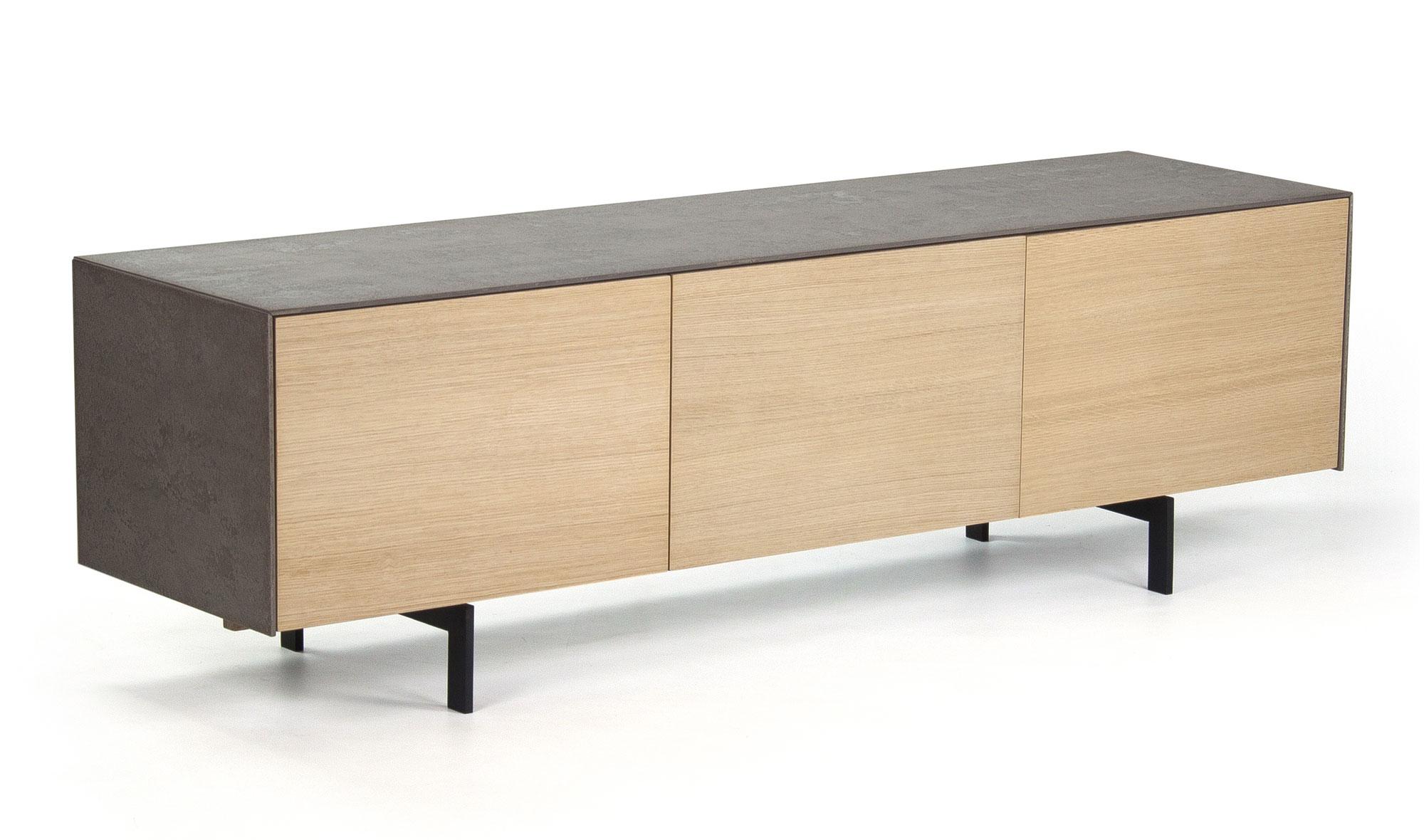 Mueble tv 2 puertas n rdico cemento en for Muebles nordicos
