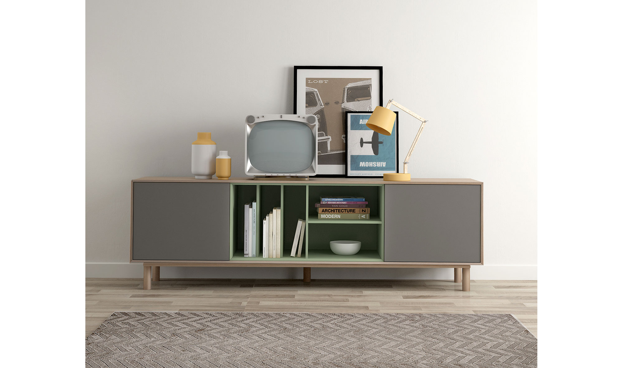 Mueble Tv 2 Puertas N Rdico Mankel En Cosas De Arquitectoscosas De  # Muebles Tocadiscos