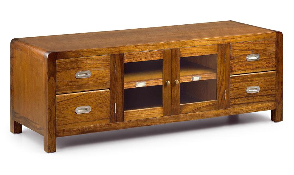 Mueble tv 4 cajones colonial flash en for Portobello muebles coloniales