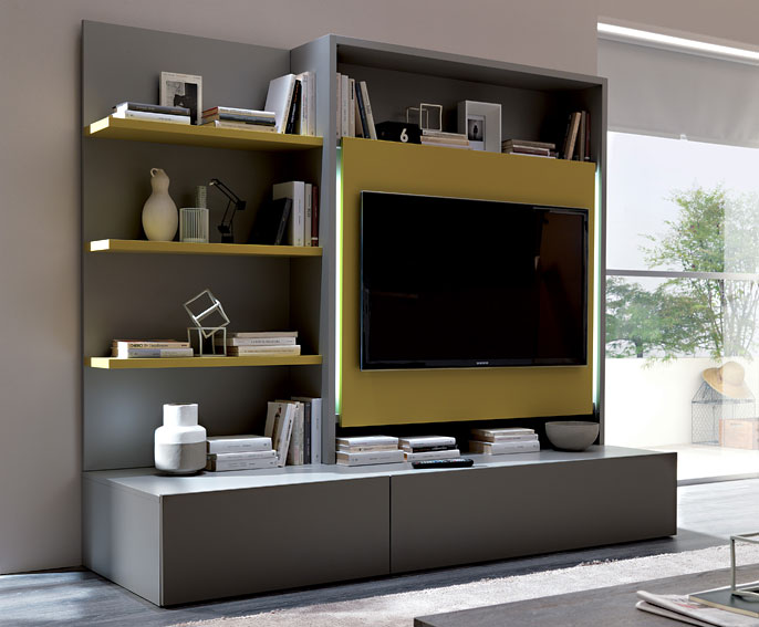 Mueble tv moderno smart en for Decoracion mueble tv