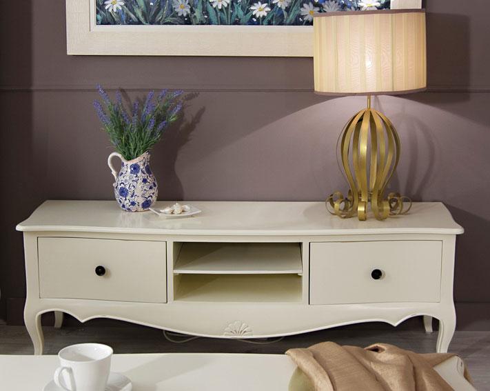 Mueble Tv Blanco Vintage Par 237 S En Portobellostreet Es