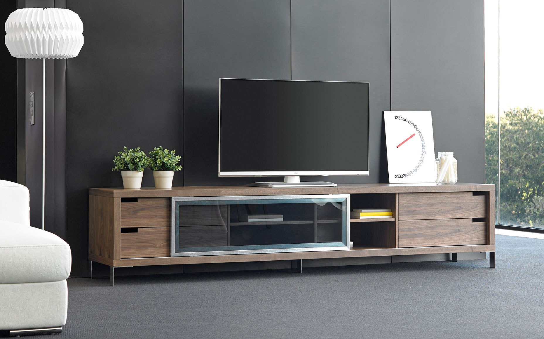 Mueble tv moderno tana en for Disenos de muebles para living