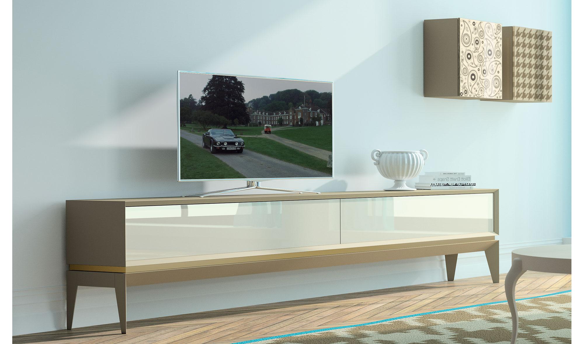 Mueble tv moderno triangle plain de lujo en for Muebles lujo
