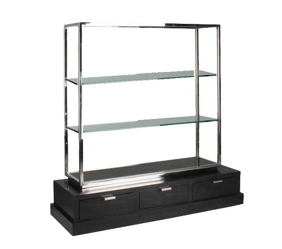 Mueble tv negro acero Vermon