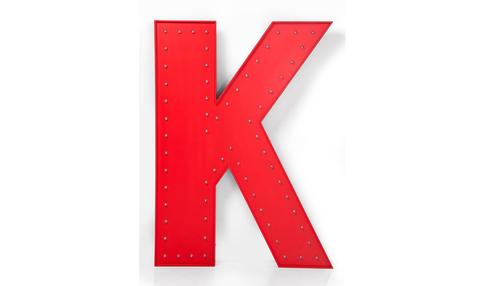 Letra luminosa LED K roja