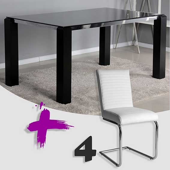 Pack Mesa Comedor Y 4 Sillas Hera No Disponible En