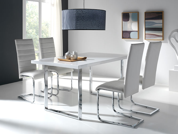 Pack Mesa Comedor Y 4 Sillas Stence No Disponible En
