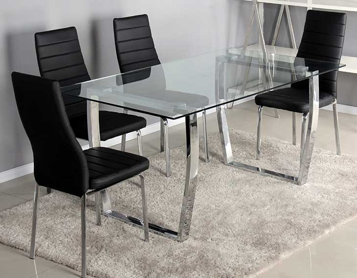 Pack mesa comedor y 4 sillas vulcano no disponible en for Muebles sillas comedor