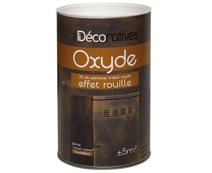 Pintura efecto metal xido oxyde de les decoratives en - Pinturas para metal ...