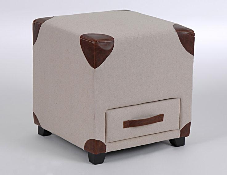 Pouf cuadrado vintage guayaka no disponible en for Puff cuadrados