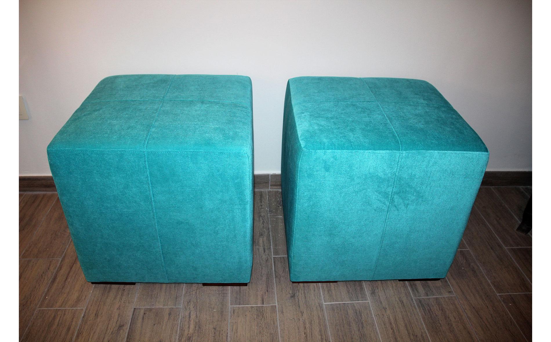 Puff Cuadrado Turquesa No Disponible En Portobellostreet Es # Muebles Turquesa