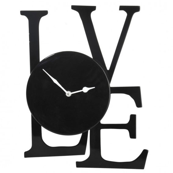 Reloj negro Love