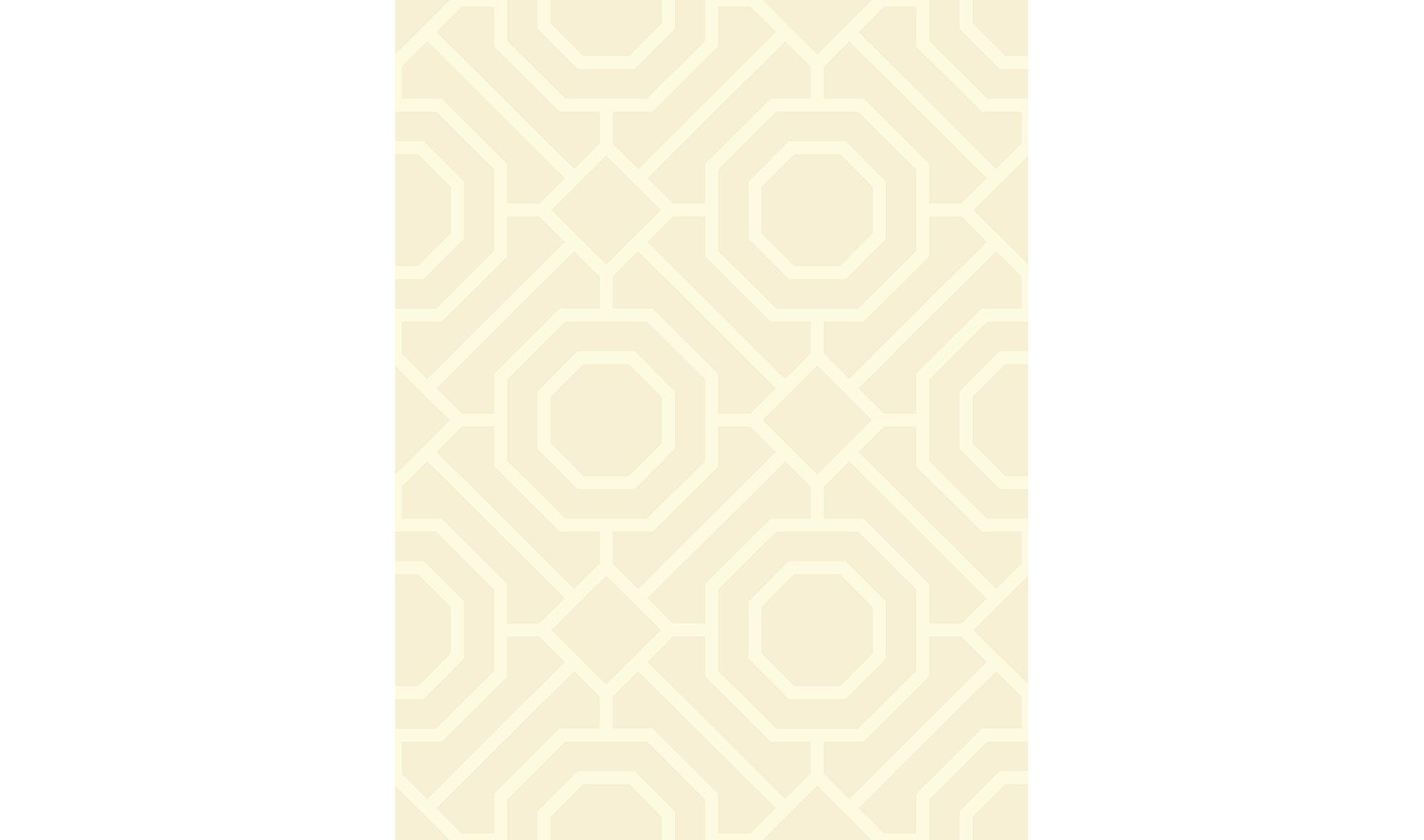 Rollo de papel pintado geom trico amarillo crudo en - Papel pintado en muebles ...