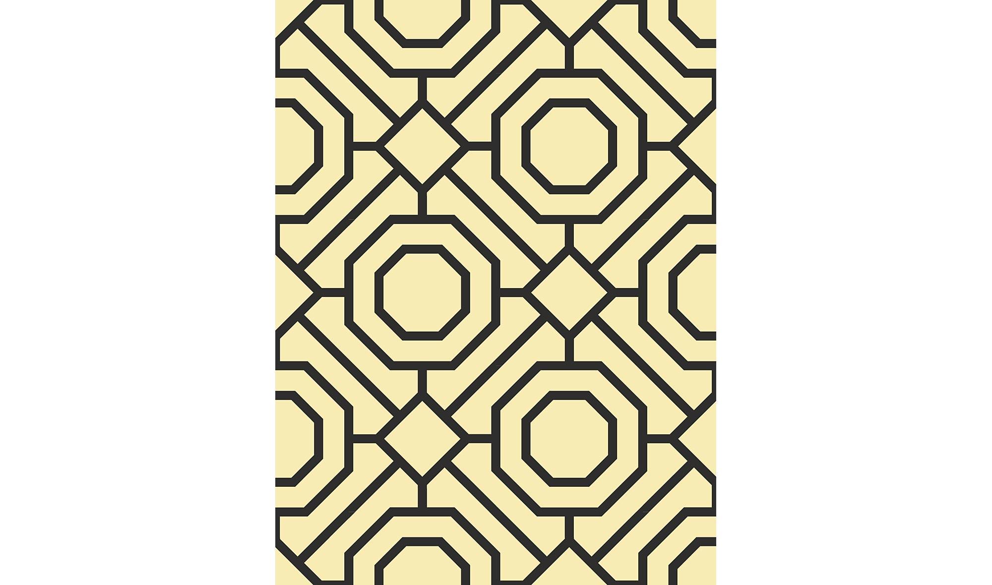 Rollo de papel pintado geom trico amarillo en for Rollo papel pintado