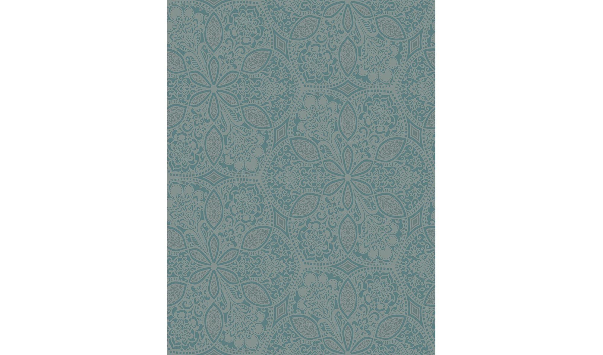 Rollo de papel pintado motivo floral azul en for Papel pintado muebles