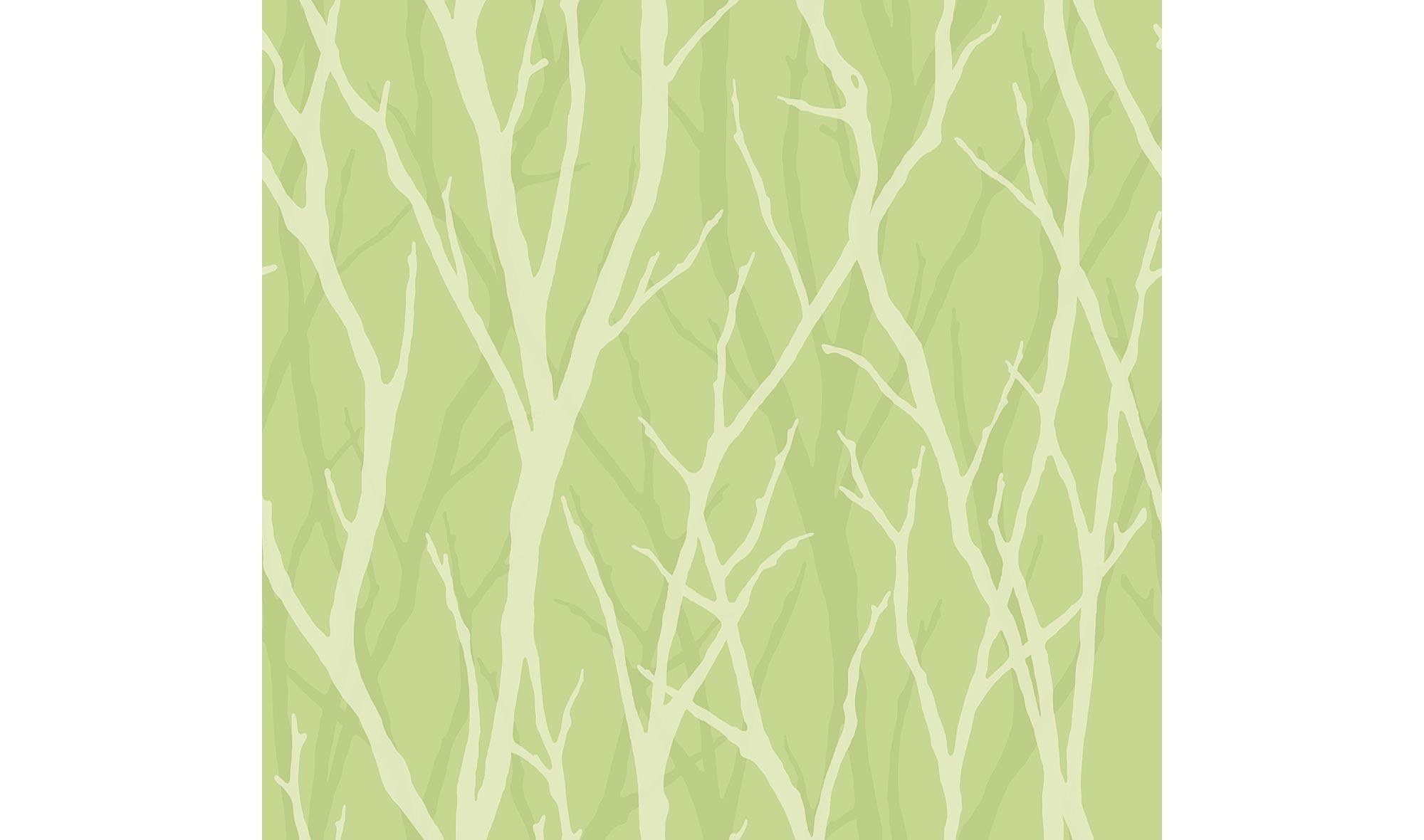 Rollo de papel pintado ramas verdes en cosas de for Rollo papel pintado