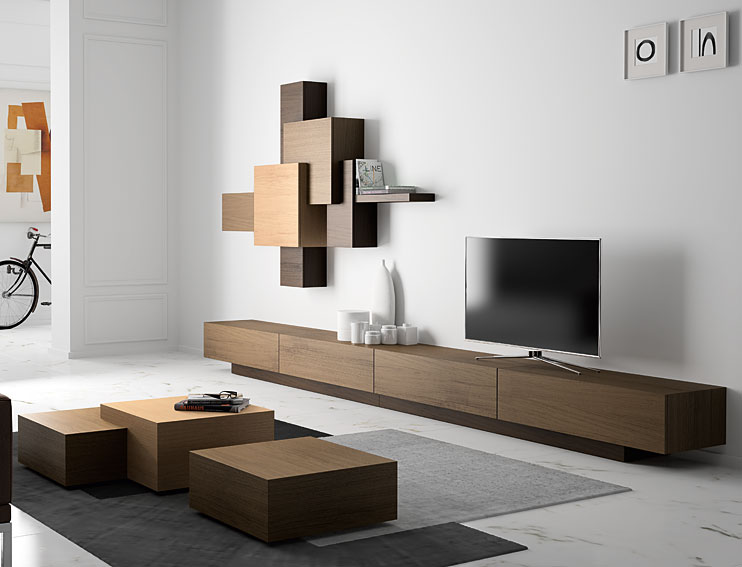 Sal n 4 cajones moderno cubista en for Muebles de salon modernos italianos