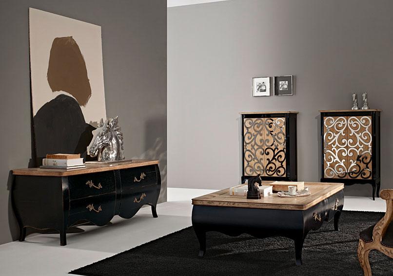 Sal n vintage leila no disponible en - Muebles de salon clasico ...