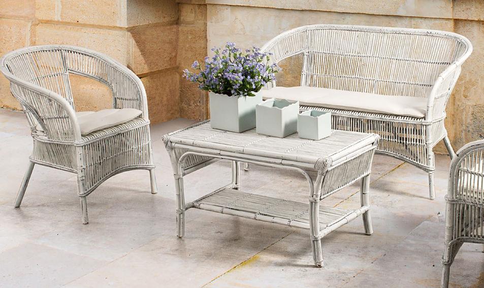 Productos similares a Salón blanco de jardín Tais disponibles en