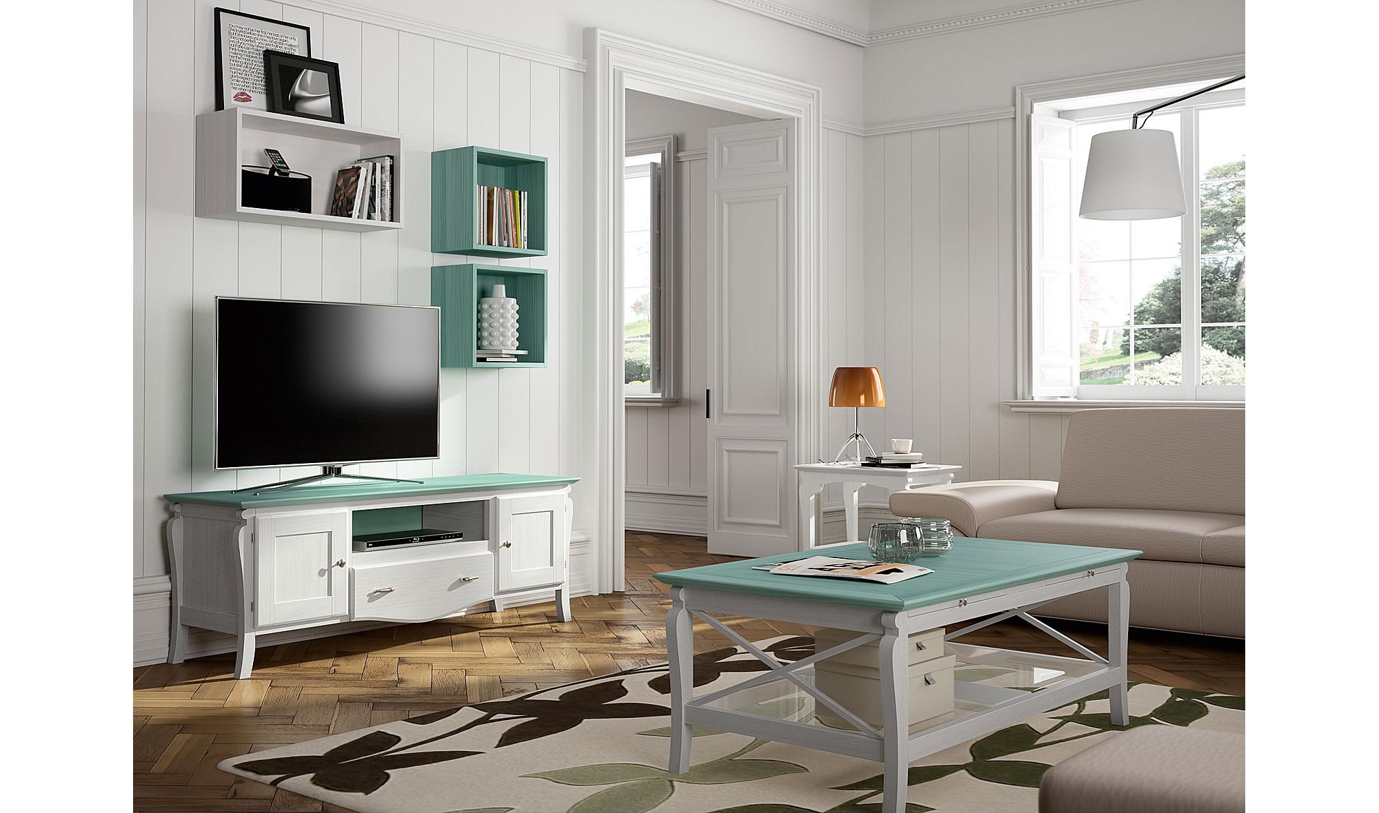 Sal n vintage provenzal mediterr neo ii en for Muebles de salon estilo vintage