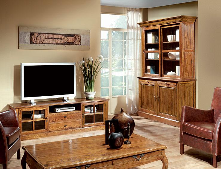 Sal n roble mombasa en for Decoracion salon muebles blancos