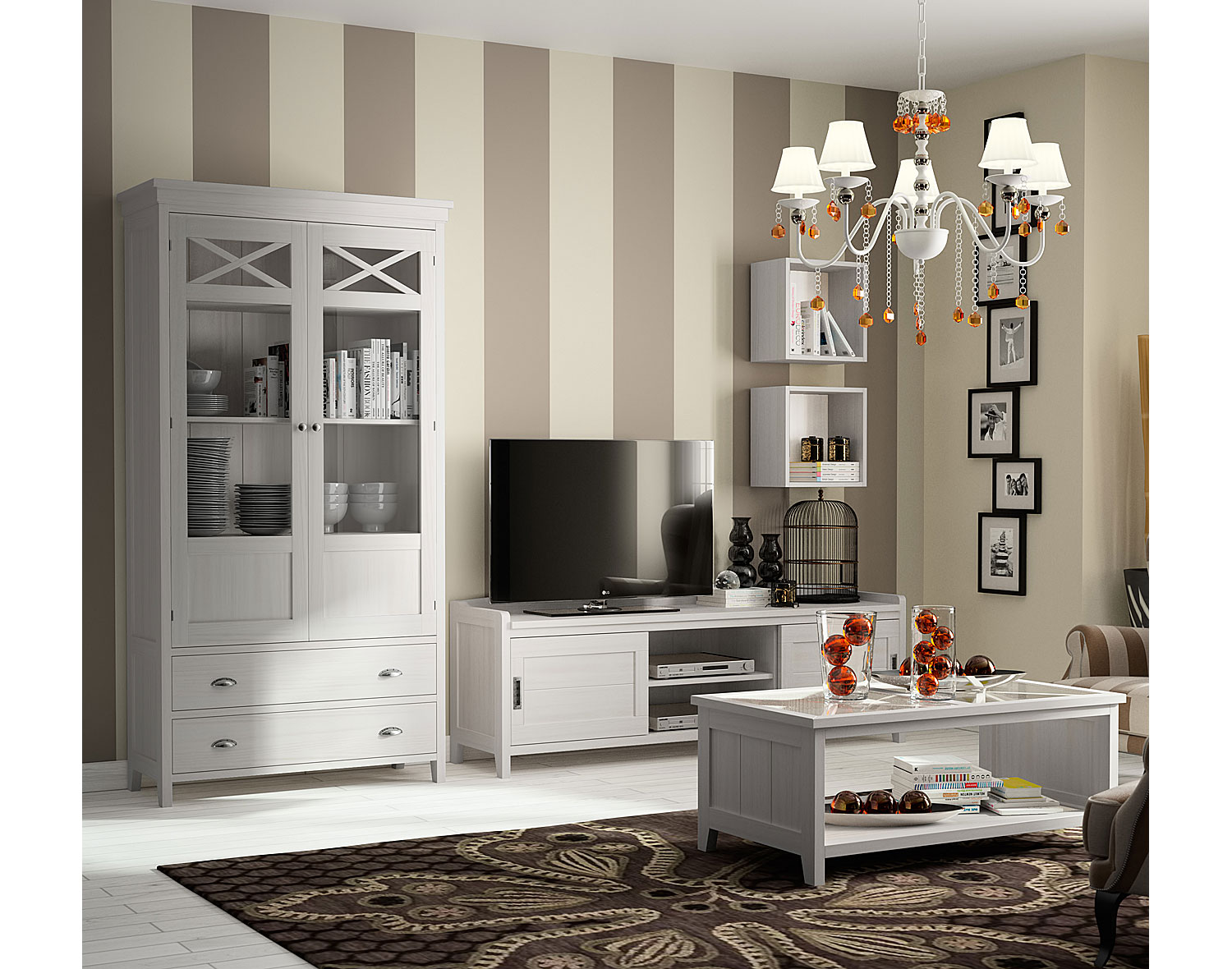 Muebles ba o blanco roto - Salon en blanco ...