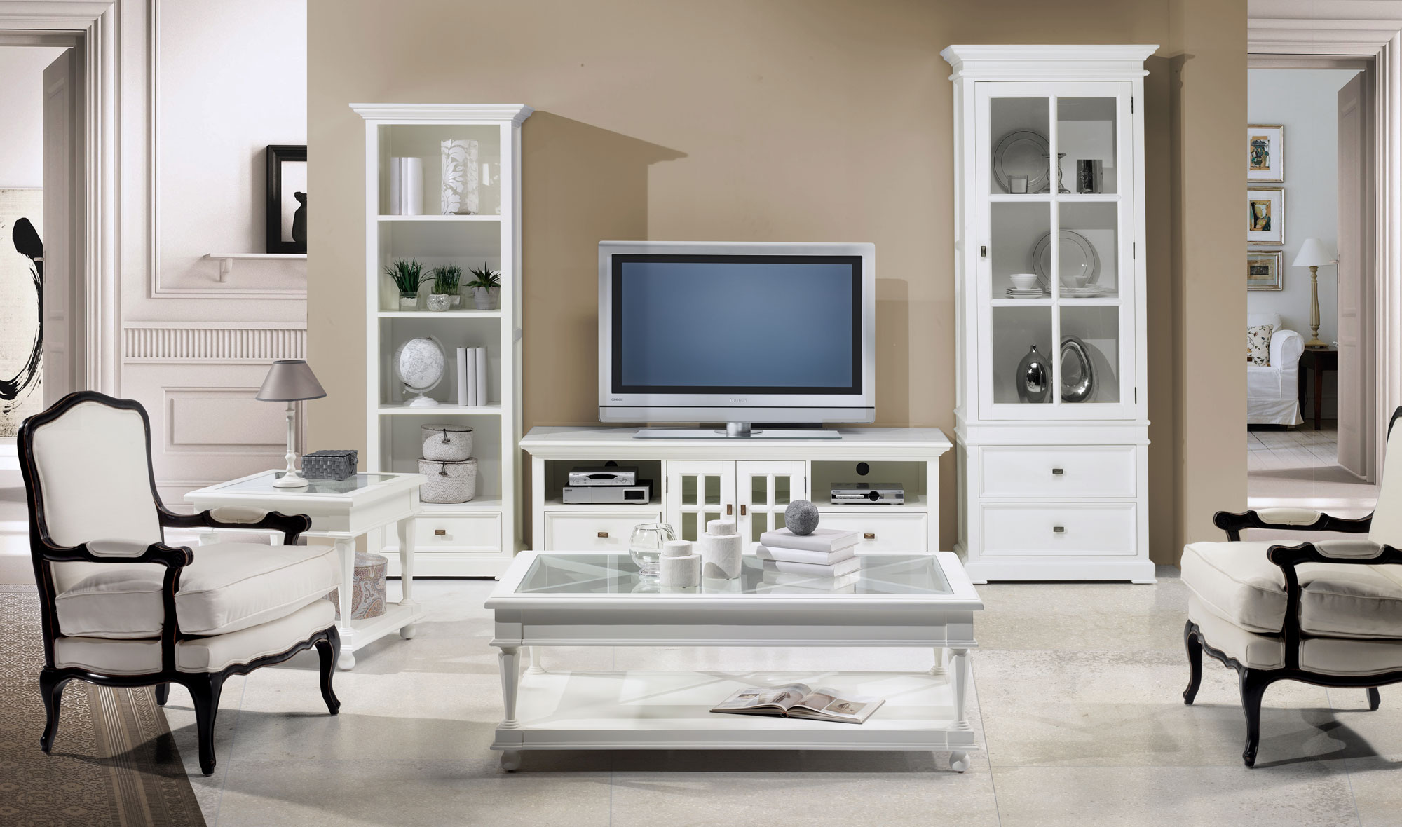 Sal n vintage beri en for Muebles para tv conforama