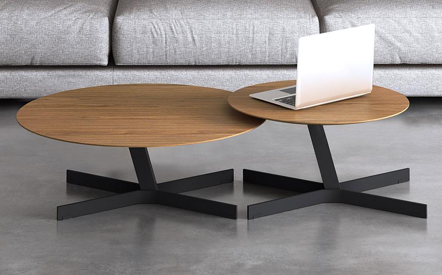 Set 2 mesas de centro modernas redondas hoxton no for Mesas de centro pequenas