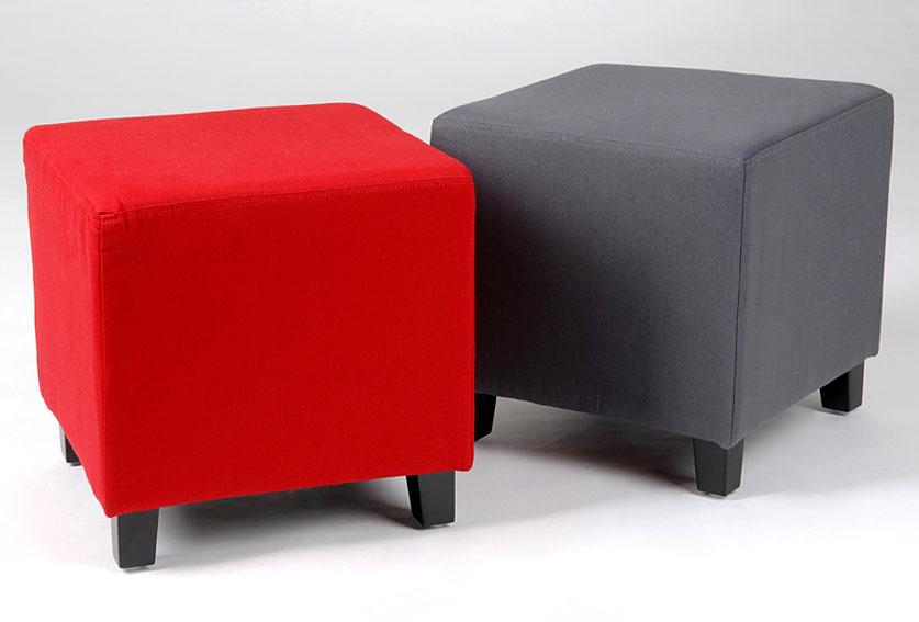 Set 2 puff cuadrado rojo y gris no disponible en - Puff cuadrados ...