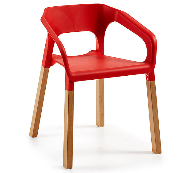 silla apilable roja moderna shasow no disponible en