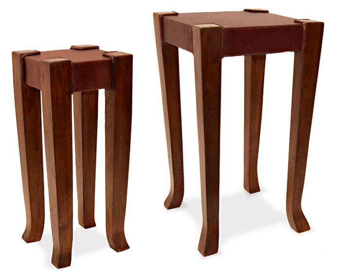 Set 2 mesas auxiliares colonial bylos - Mesas auxiliares pequenas ...