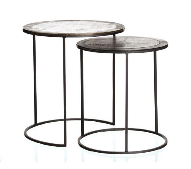 Set 2 mesas auxiliares redonda darso no disponible en - Mesa auxiliar redonda ikea ...