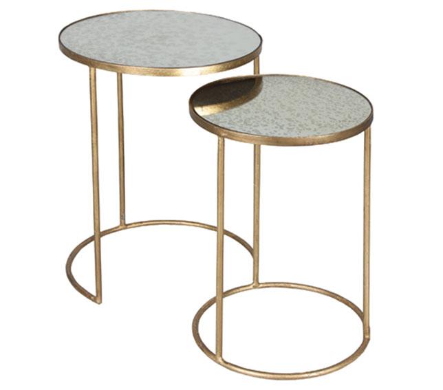Set 2 mesas aux redondas modernas kompe de lujo en - Mesas auxiliares redondas ...