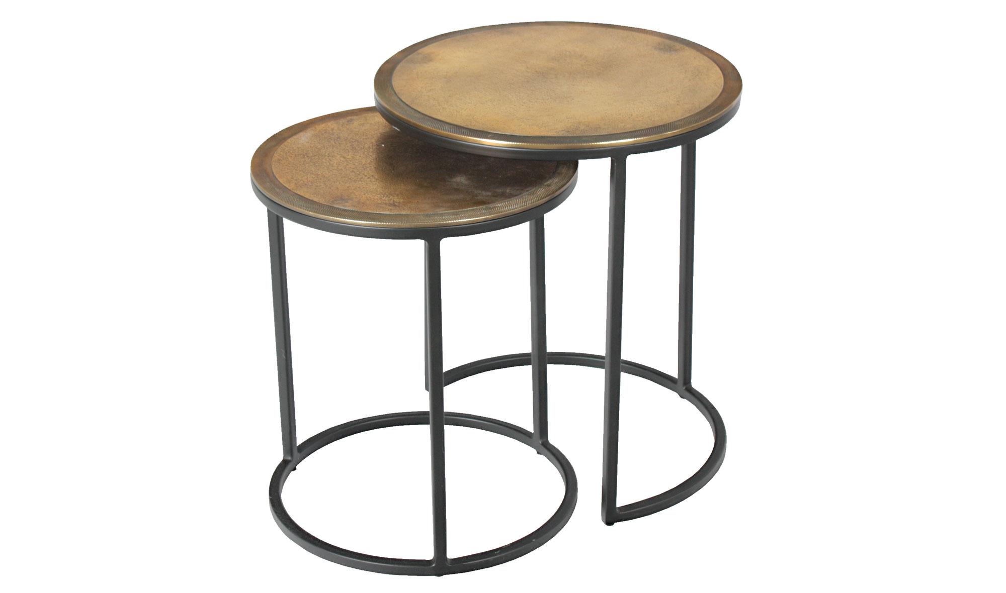 Set 2 mesas auxiliares redondas vintage sire no disponible - Mesas auxiliares redondas ...