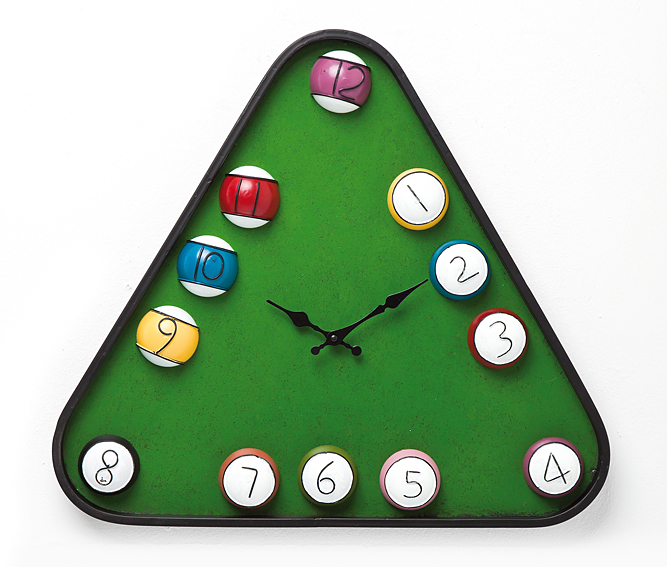 Set 2 relojes triangulares Vintage Billar en Portobellostreet.es