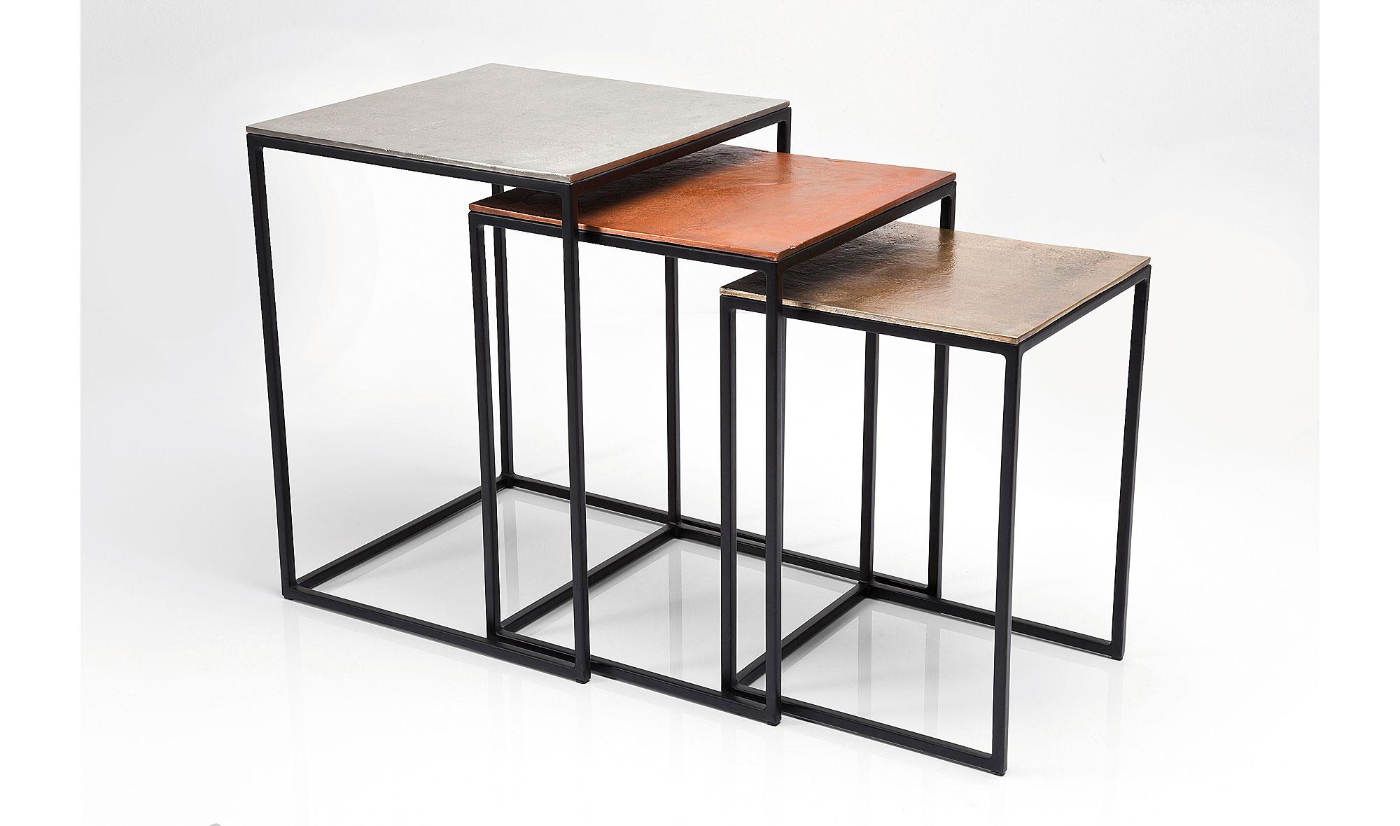 muebles cosas de arquitectos set mesas auxiliares vintage loft muebles auxiliares de forja