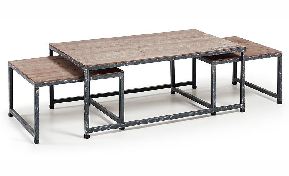 Set 3 mesas de centro industrial erutna no disponible en - Mesa centro industrial ...