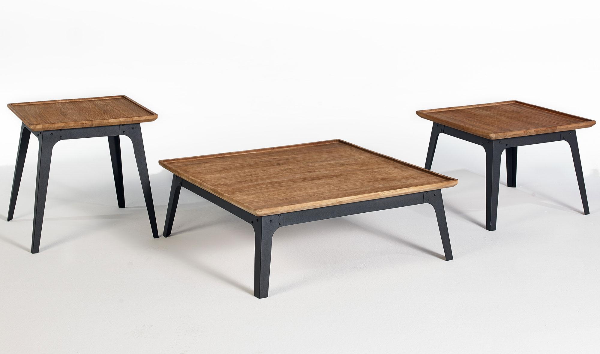 Muebles Martin Peñasco:  Set 3 mesas de centro vintage Leuser - Mesas de Centro Vintage - Muebles Vintage