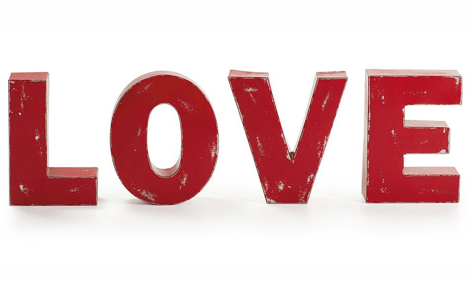 Set 4 letras decorativas Evol