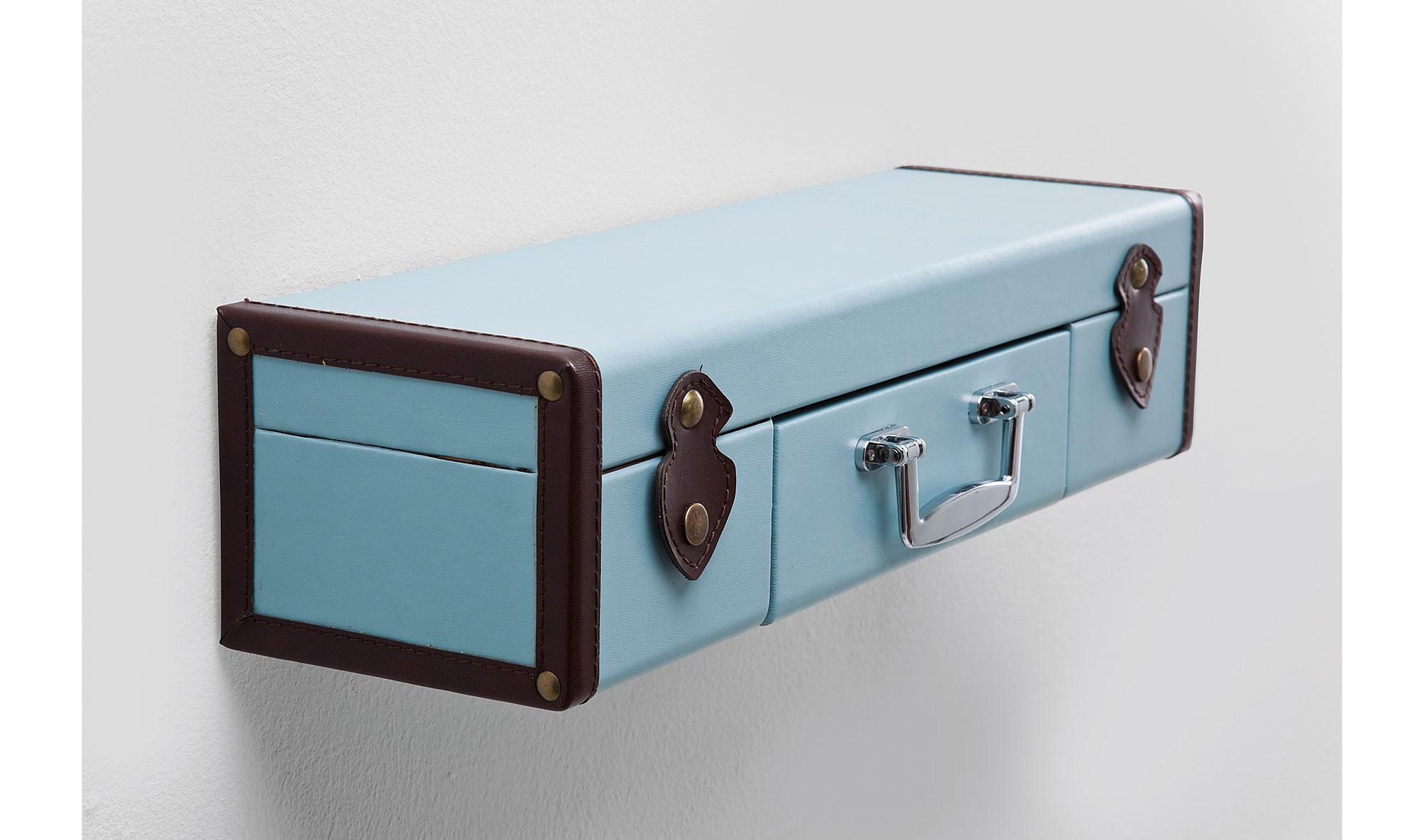 Estanter A De Pared Vintage Maleta Azul Claro No Disponible En  # Muebles Licoreras Pared