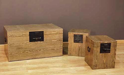 Set 3 baules coloniales duna no disponible en for Portobello muebles coloniales