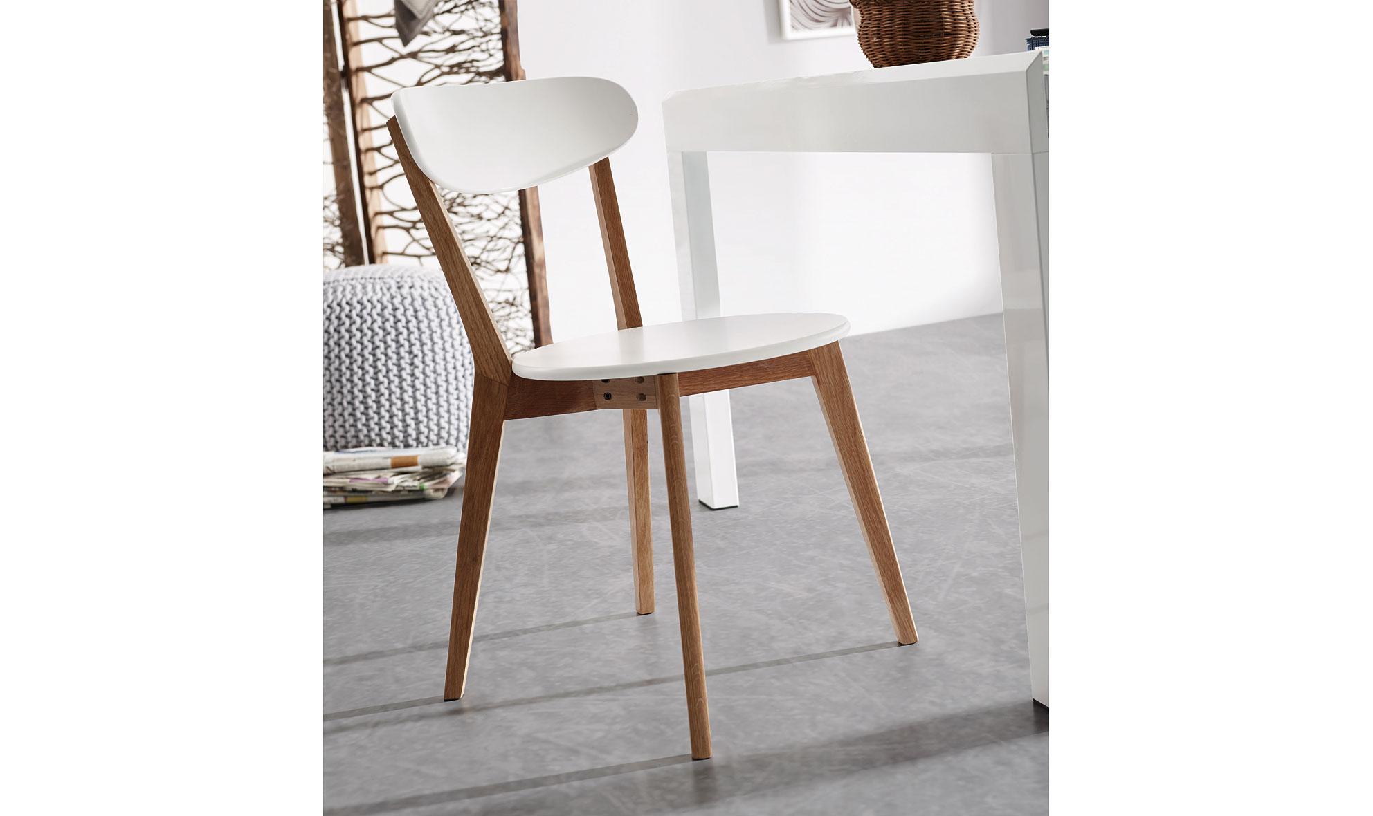 Silla blanca n rdica areia en for Sillas para escritorio de madera