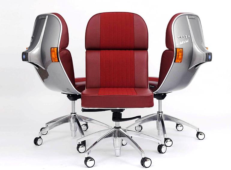 Silla giratoria vespa vintage en for Precios sillas giratorias para escritorio